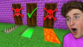 Don't Choose The WRONG MYSTERY DOOR In MINECRAFT *CHALLENGE*