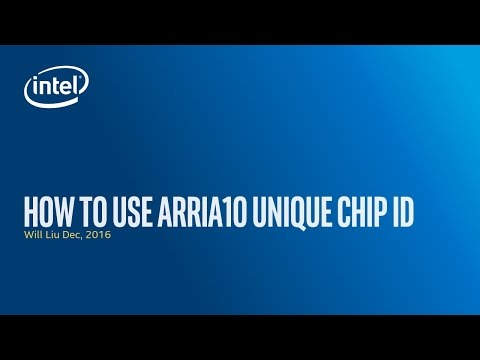 Using the Arria 10 Unique Chip ID feature