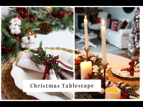 Christmas Decorate With Me | Christmas Tablescape Idea | Momma From scratch