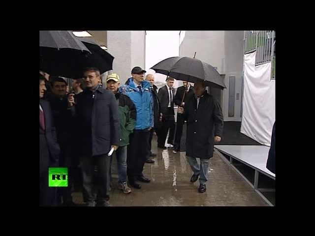 Владимир Путин остался доволен ходом строительства олимпийских трамплинов в Красной Поляне