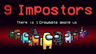 โหมดใหม่ Impostors 9 คน! - Among Us   พี่เมย์