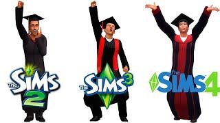 ♦ Sims 2 vs Sims 3 vs Sims 4 : University (Part 3)