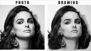 Drawing a Realistic Portrait with Graphite & Charcoal Pencils