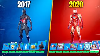 Evolution of Fortnite Battle Pass 2017-2020