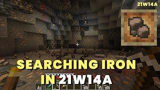 Searching for Raw Iron in New Caves 21w14a | Minecraft 1.17 21w14a | Caves & Cliffs Update
