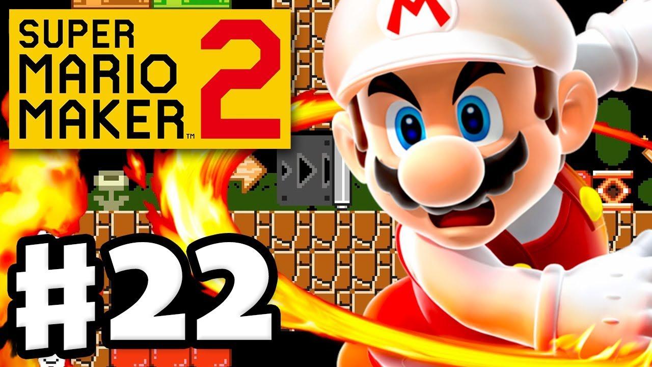 Superball Flower vs  Fire Flower! - Super Mario Maker 2 - Gameplay  Walkthrough Part 22
