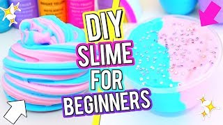 How To Make The BEST FLUFFY SLIME! DIY Cotton Candy Slime! Slime Tutorial For Beginners!