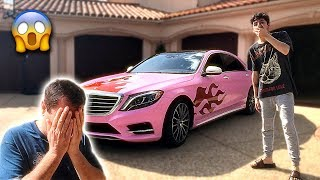 I Gave My Dads Car a MAKEOVER & He Was SO MAD... (crazy reaction)