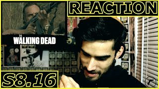 Season 8 Episode 16 REACTION (The Walking Dead) Bye Scott M. Gimple