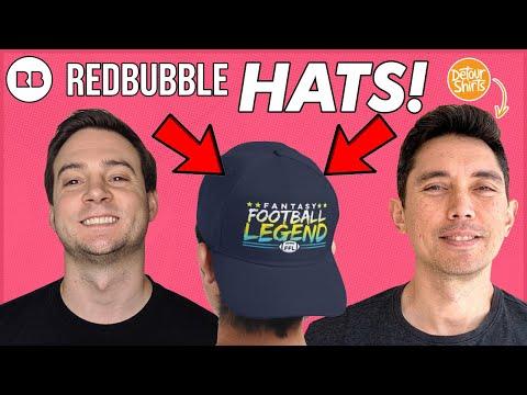 [NEW] REDBUBBLE HATS REVIEW! 🧢 w/ @Detour Shirts