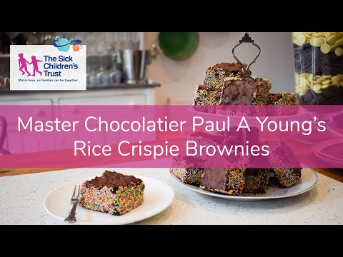 Master Chocolatier Paul A Young's Rice Crispie Brownie Recipe for Big Chocolate Tea!