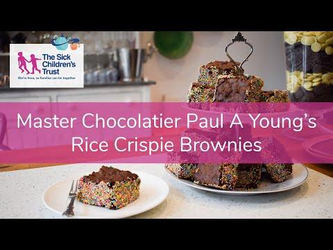 Master Chocolatier Paul A Young's Rice Crispie Brownie Recipe for Big Chocolate Tea!