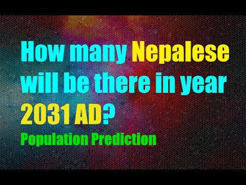 How many Nepalese will be there in year 2031 - Projected Population