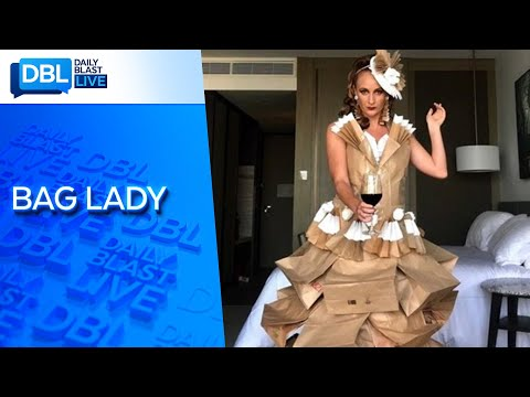 Cruise Ship Dancer Makes Paper Bag Fashion in Quarantine.