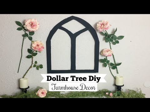 DOLLAR TREE DIY WALL DECOR | FARMHOUSE DECOR DUPE | Momma from scratch