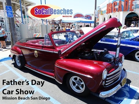 Hot Rods, Classic Cars and Muscles Cars at the Beach in San Diego