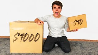 $10 VS $1000 MYSTERY BOX! (INSANE)