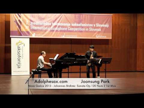 Joonsung Park - Nova Gorica 2013 - Johannes Brahms: Sonata Op 120 Num 2 1st Mov