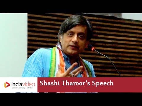 Shashi Tharoor's speech - YouTube