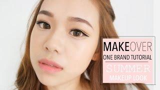 MakeOver Indonesia One Brand Tutorial | Summer Makeup Look | Molita Lin