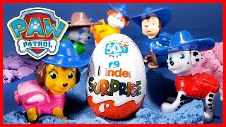 PAW Patrol Learn Colors with Kinetic Sand and Kinder Surprise Eggs