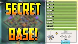 SECRET BASE - Clash of Clans Strategy - EXPOSED!