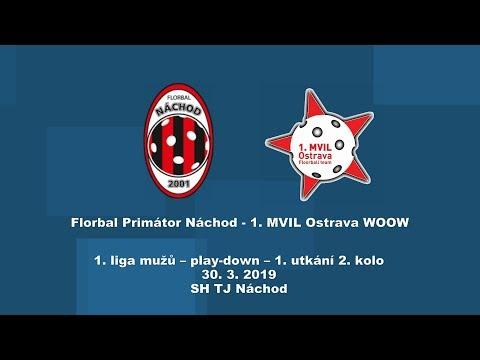1. liga mužů, play-down, Náchod-MVIL Ostrava
