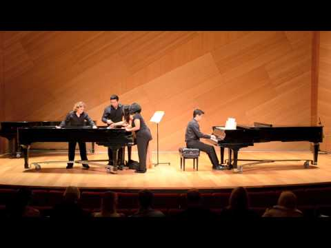 Piano Party: for Bowed Piano Ensemble. Composed by Samara Rice. Performed by Euki Sawada, Alex Segal, Tiffany Luca, An Nguyen, Kevin Woo