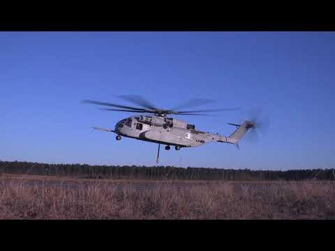 First CH-53K King Stallion heavy lift test by U.S. Marine Corps