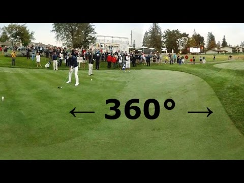 Stephen Curry tees it up with Harold Varner III in 360 degrees
