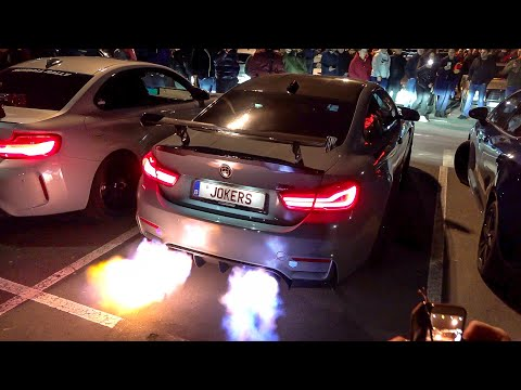 700HP Pure Turbos BMW M4 F82 with Decat Fi Exhaust - HUGE Flames, Accelerations & Crackles !