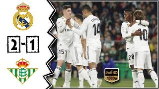 Real MAdrid vs Real Betis 2 - 1 || 🔥 All Goals & Highlights 13/01/2019 HD