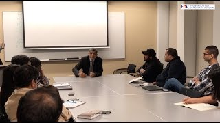 JP interacts with Columbia University Students, New York..