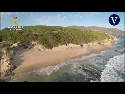 Espectacular persecución de una narcolancha en Punta Paloma