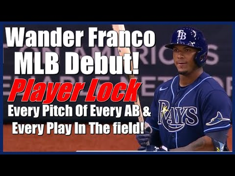 Wander Franco Rays, MLB Debut Player Lock - Every Pitch Of Every At-Bat & Every Play In The Field.