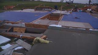 Widespread tornado damage near Kansas City