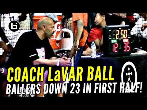 LaVar Ball Coaches Big Ballers to Comeback!! Down 23 Points In First Half!