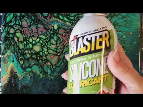 What happens if you spray silicone on a painting?