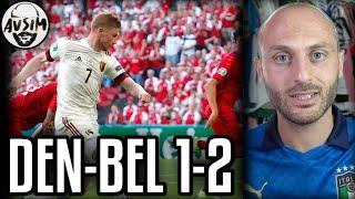 Danimarca sconfitta immeritata. De Bruyne fenomeno ||| Avsim Post Danimarca-Belgio 1-2
