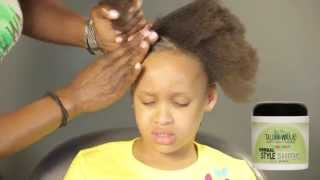 How to detangle and style child's 4-c hair   Childrens Hair Care