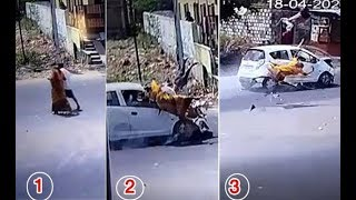 Tragic: Couple died in road accident, caught on camera..