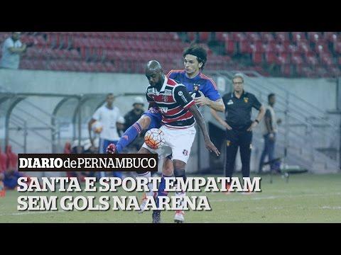 Com Arena esvaziada, 1� duelo internacional entre Santa Cruz e Sport termina no 0 a 0