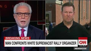 White supremacist rally organizer confronted