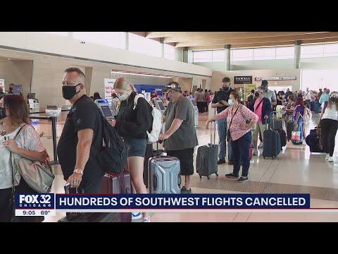 Hundreds of Southwest flights canceled across the United States