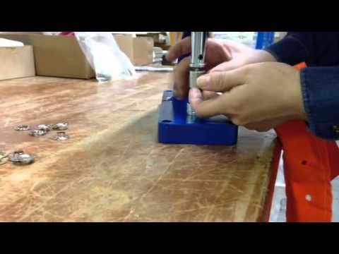 Micron TEP-3 Grommet Attaching machine Sheet Metal & Plain Washer Installation