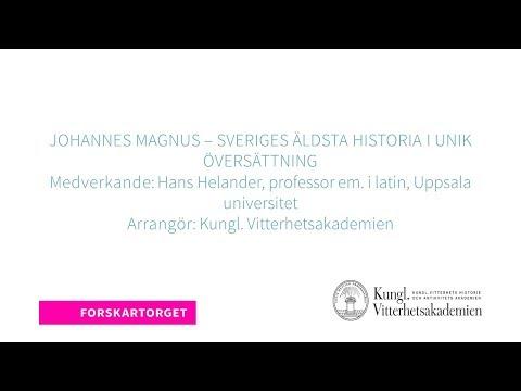 Forskartorget 2018 - Johannes Magnus – Sveriges äldsta historia i unik översättning