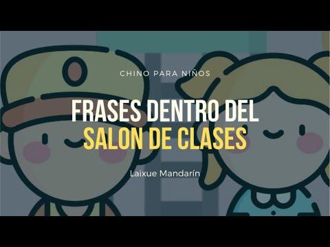 Chino para niños: Frases dentro del salón de clases
