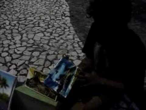 Baixar Pintor pintando na rua em azuleijos - Maceio