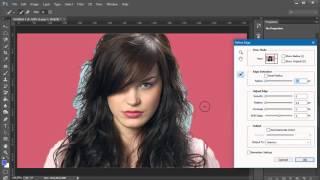 Tách tóc mai ra khỏi hình nền bằng công cụ Refine Edege với Adobe PhotoShop CC