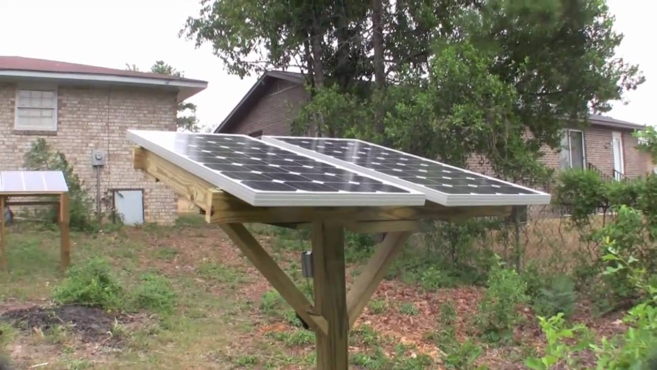 Diy Pole Mounted Solar Panels Youtube